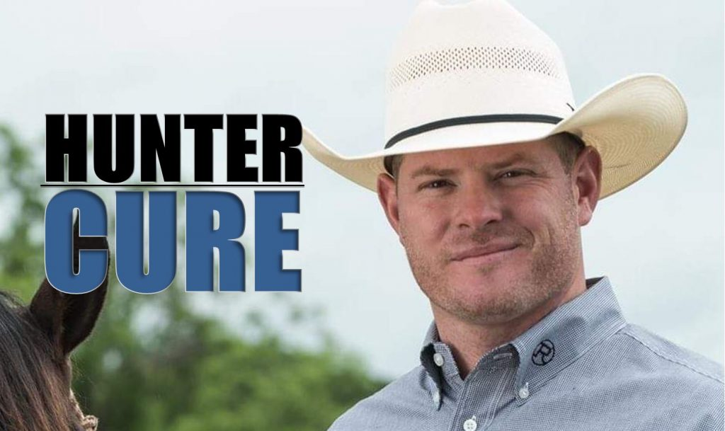 Hunter Cure world champion rodeo steer wrestling husband father