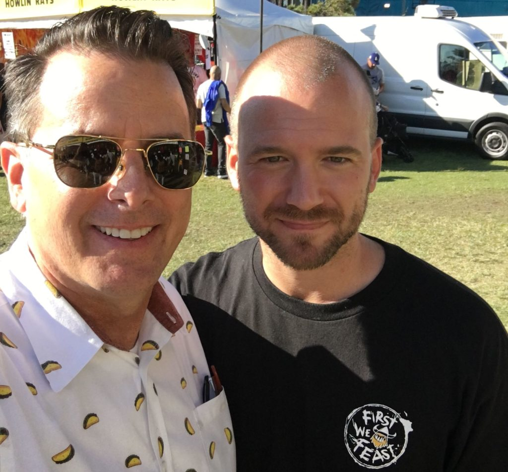 Me and Sean Evans from the Hot Ones show