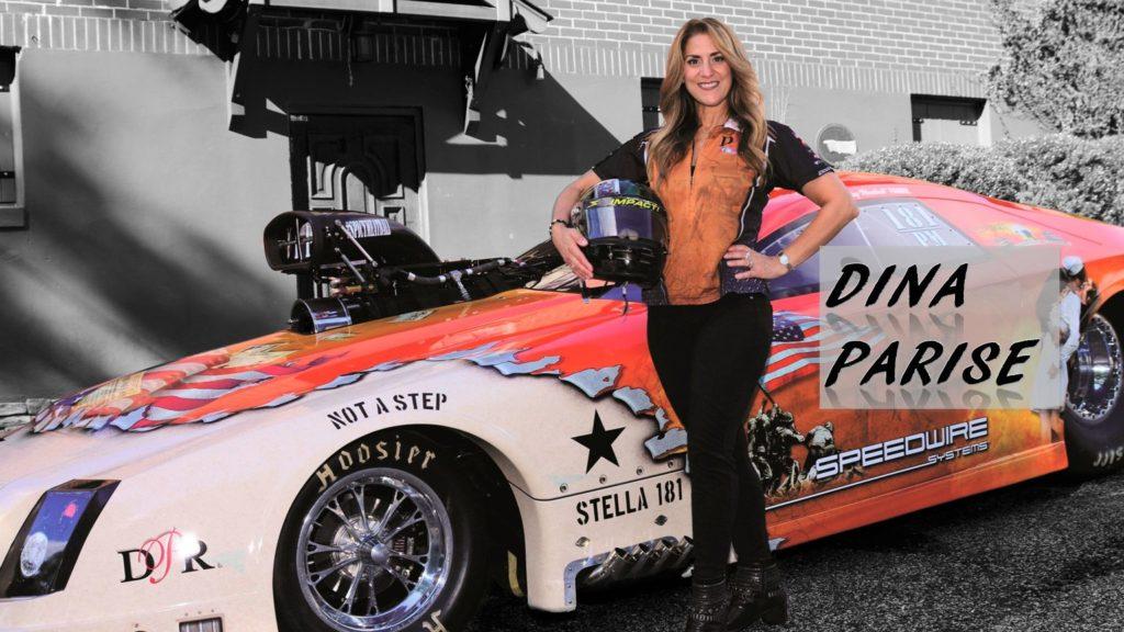 Dina Parise drag racing ice capades world champ racing wife