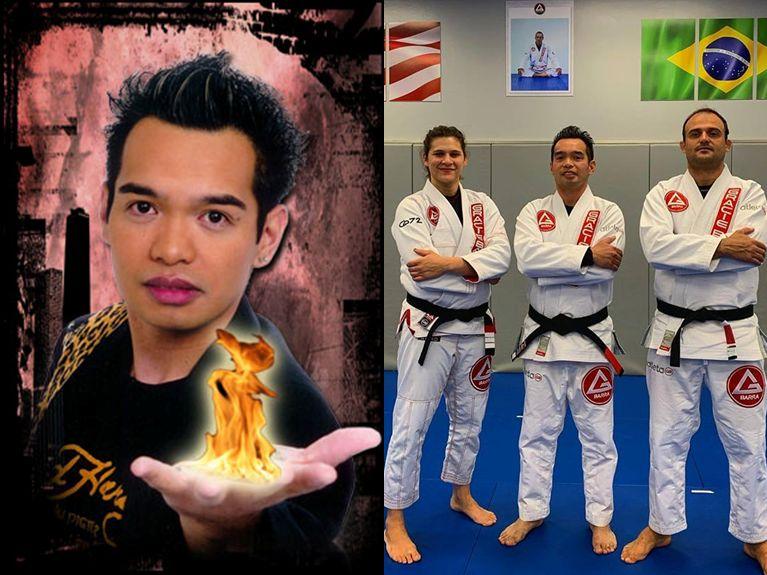 Jethro Alcuaz at work magic magician bjj jiu jitsu black belt