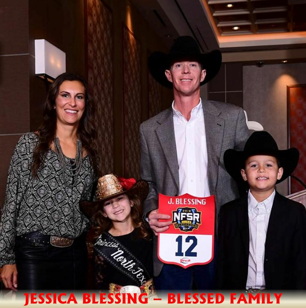 Jessica Blessing family rodeo cali cain jarrett texas cheyenne dallas sales