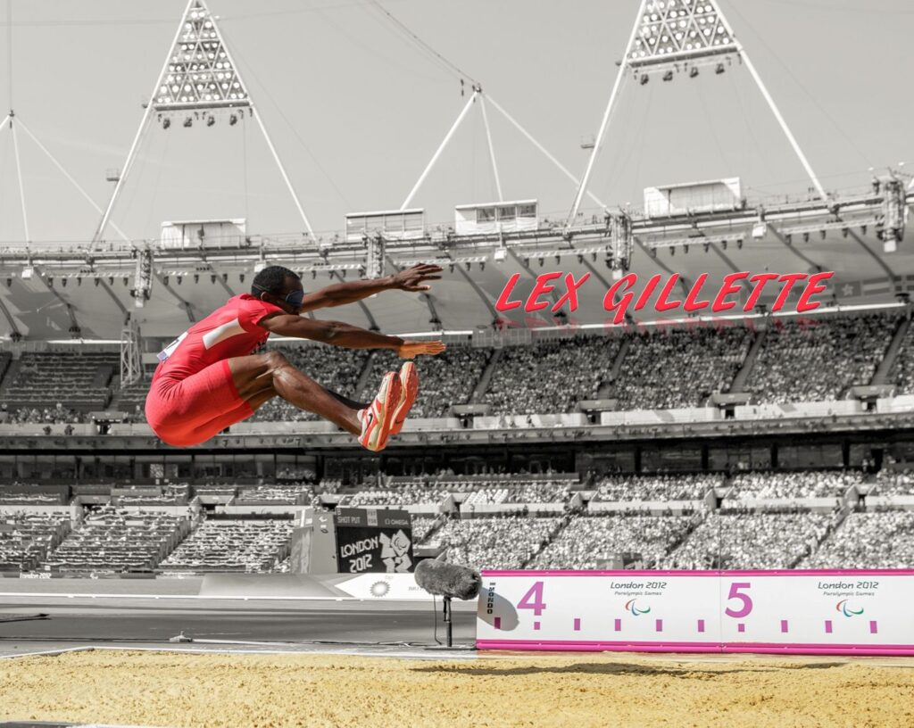 Lex Gillette olympian paraolympics world record long jump