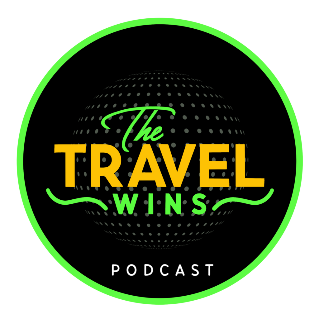 Travel Wins LOGO black round