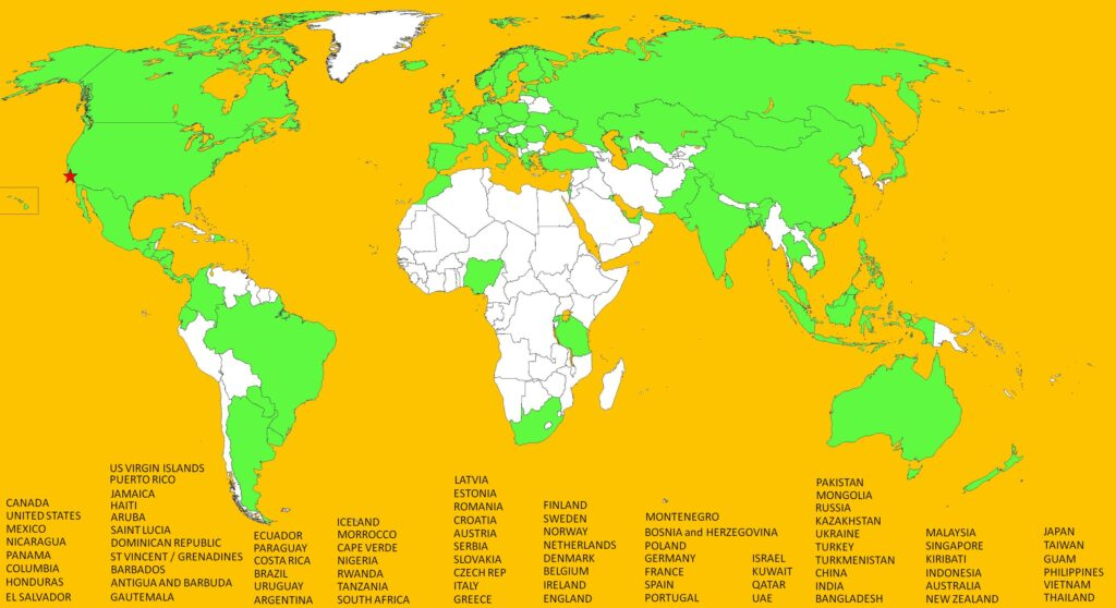 The Travel Wins World Map July 11 83 countries